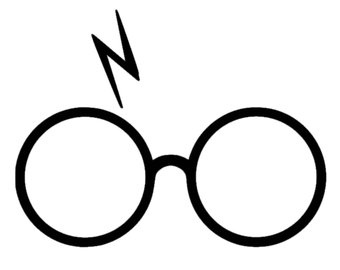 340x270 Harry Potter Glasses And Scar Silhouette