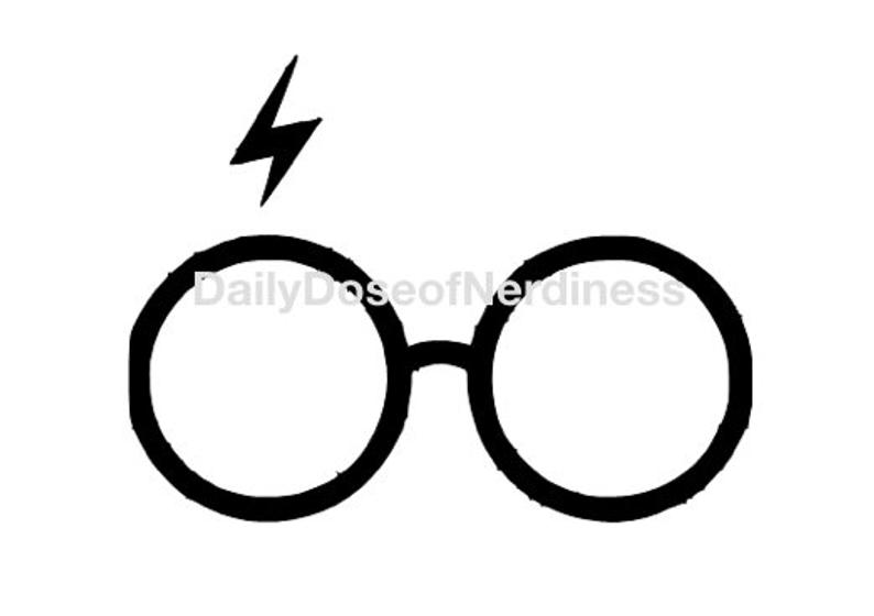 794x560 Harry Potter Glasses Decal Etsy