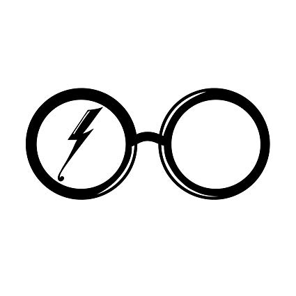 425x425 Harry Potter Glasses And Scar Silhouette