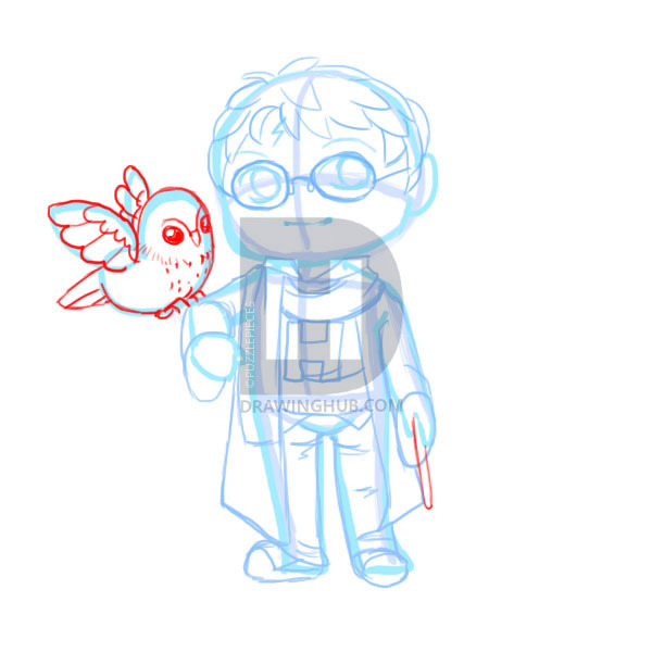 600x600 How To Draw Chibi Harry Potter, Step