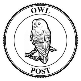 320x320 Owl Post Seal Bw Photo