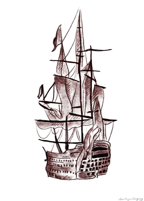 500x700 Harry's Ship Tattoo I Honestly Dont Know Why But, This Tattoo Has