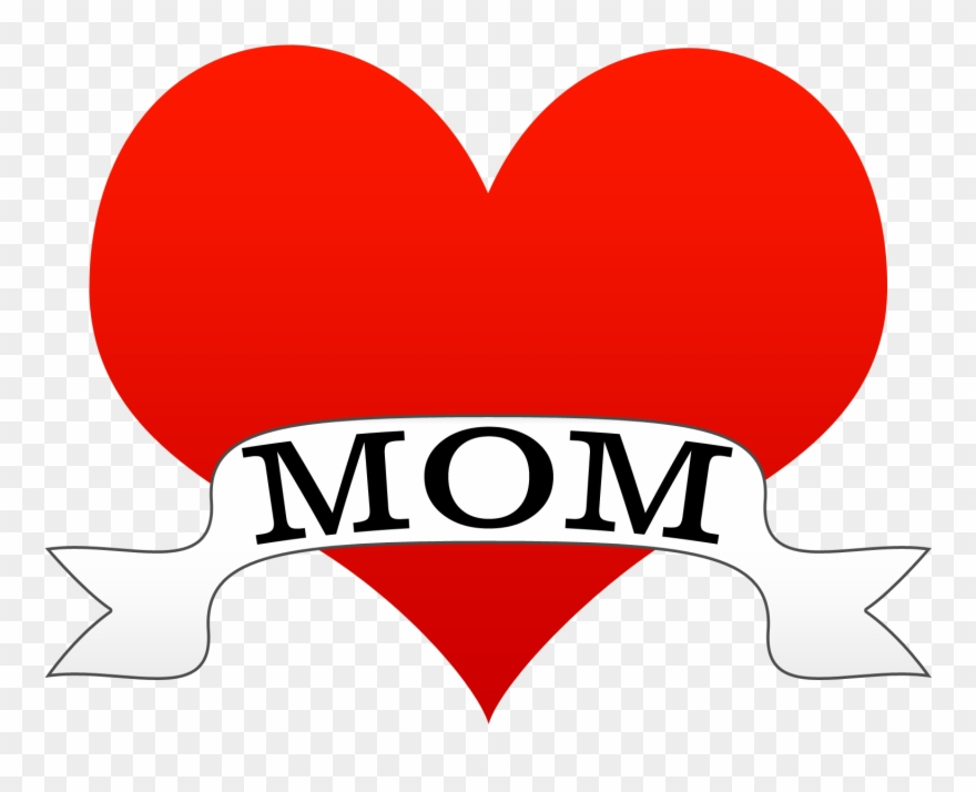 880x714 Mother's Day Heart Tattoo Style Clipart