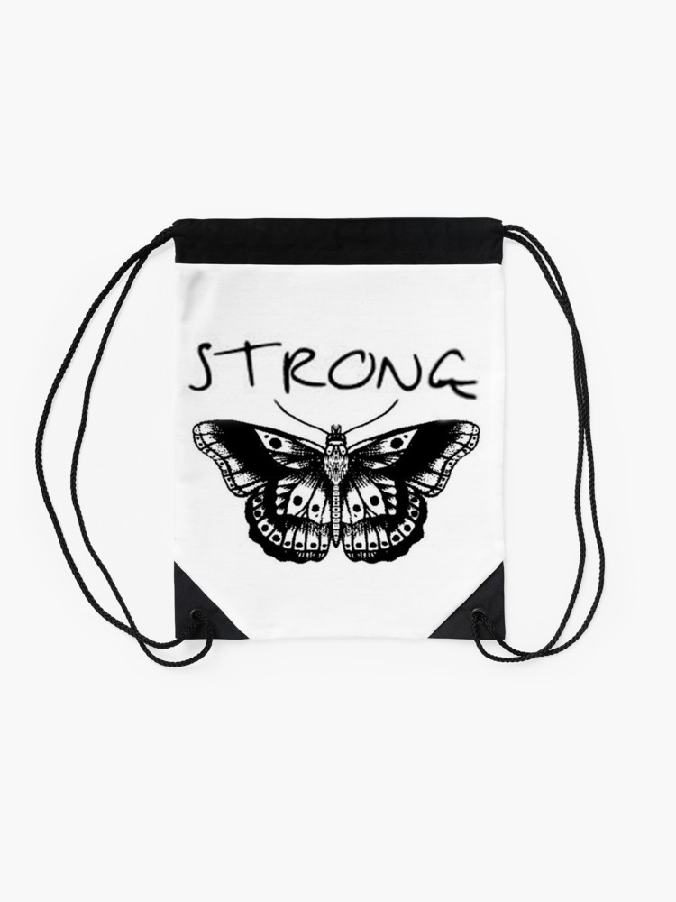 750x1000 Strong Harry Styles Butterfly Tattoo Drawstring Bag