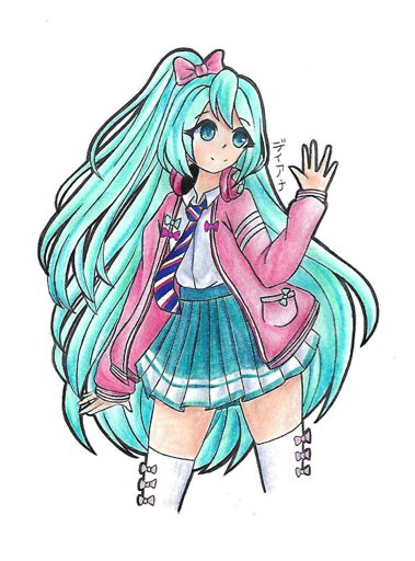 379x512 Hatsune Miku Ribbon Girl