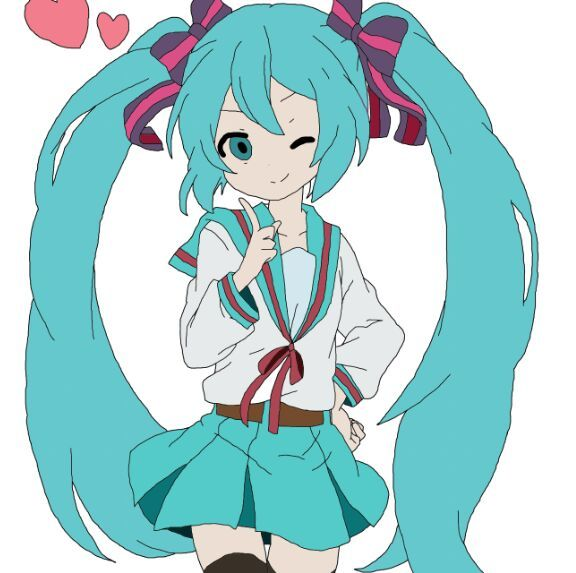 576x573 How To Draw Hatsune Miku Anime Amino