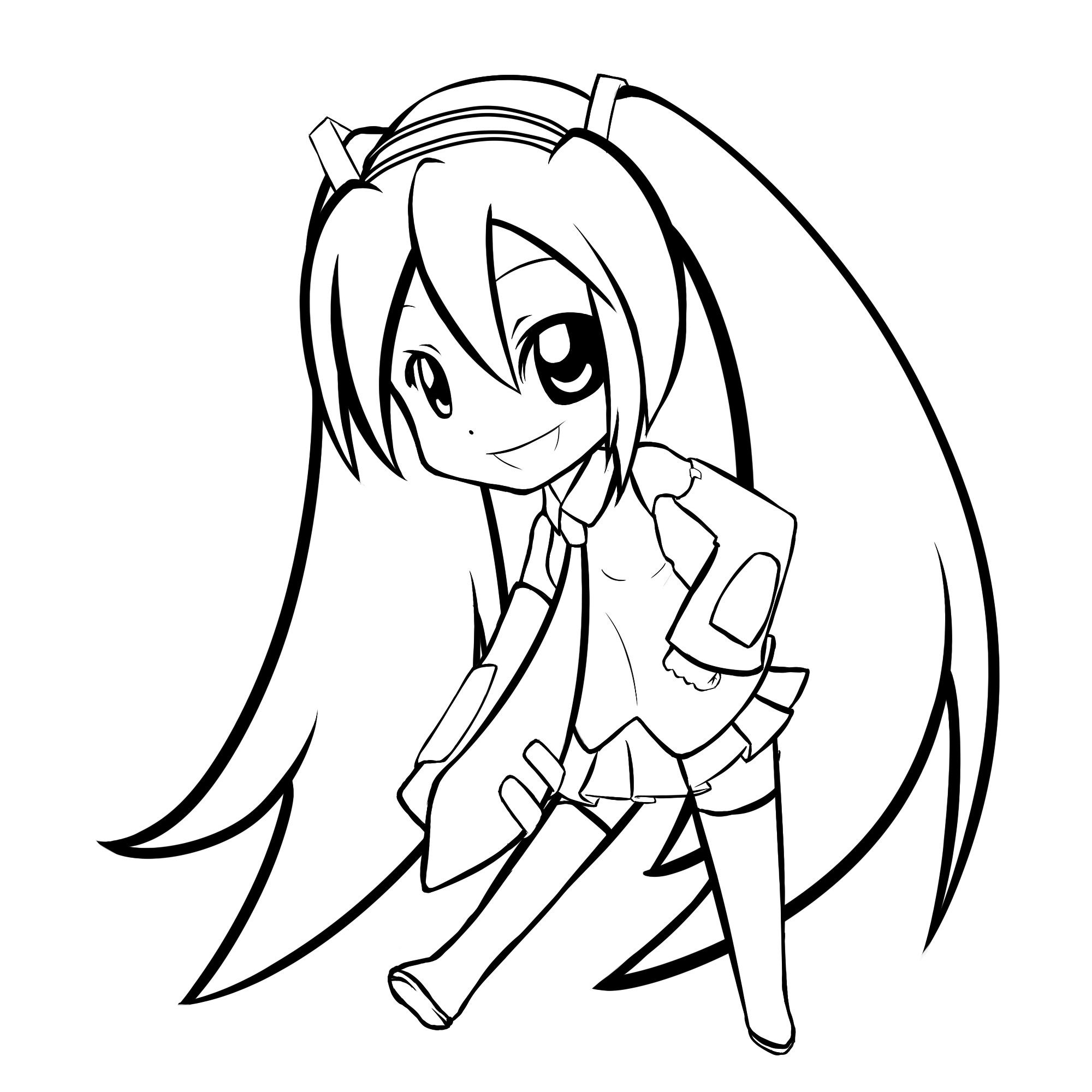 2000x2000 Image Result For Miku Simple Drawing Art Easy Drawings