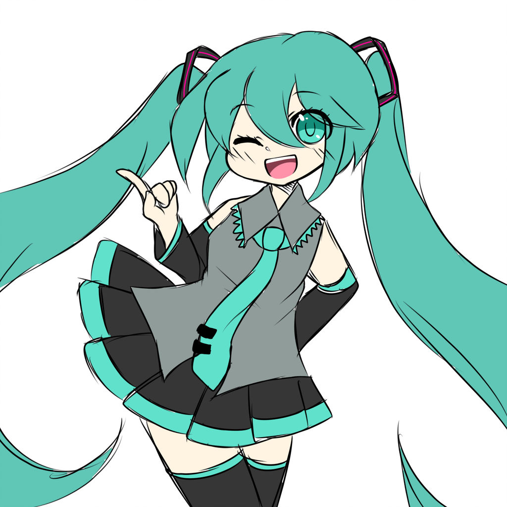 1024x1024 Redraw First Digital Drawing Hatsune, Miku
