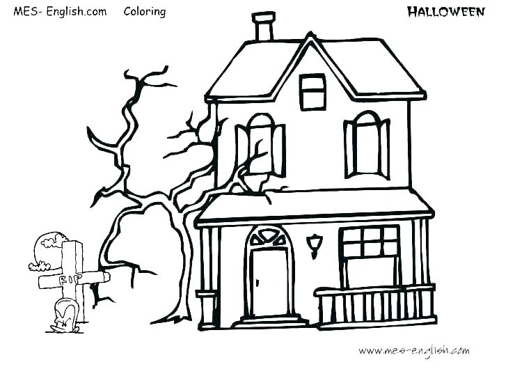 740x540 halloween haunted house coloring pages halloween haunted house