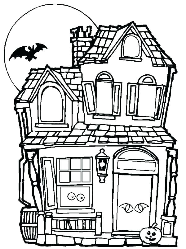 Halloween Spooky House Drawing.Haunted House Drawing Free Download Best Haunted House