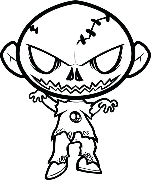 600x718 scary halloween drawings scary coloring sheets for teenagers scary