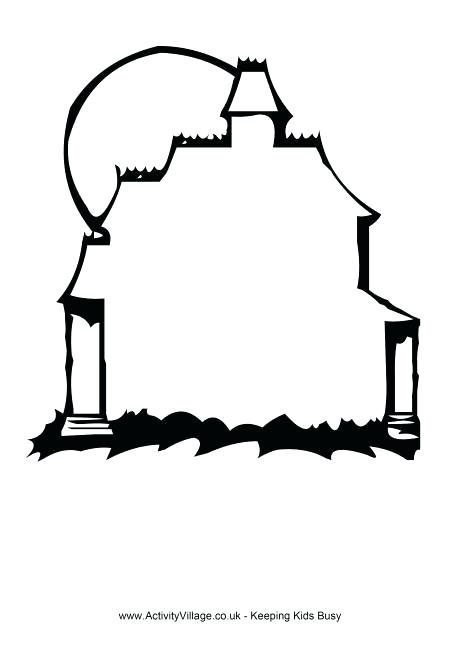 460x650 haunted house outline haunted house frame with outline easy ways