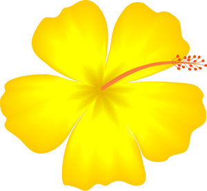 300x276 Yellow Hibiscus Hawaii State Flower Clip Art I Love Flowers