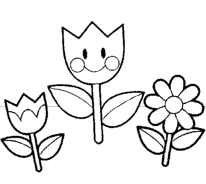 792x708 Coloring Pages Flower