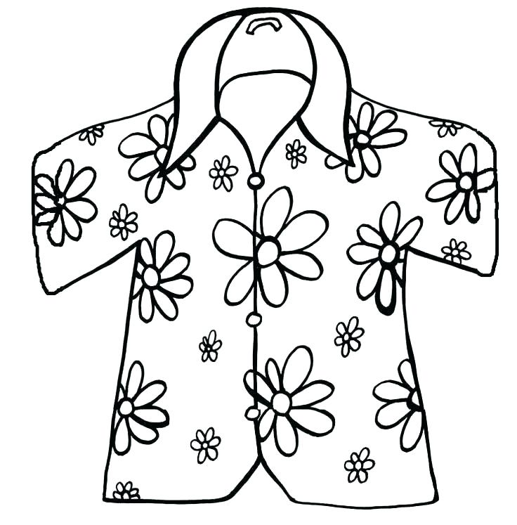 736x747 Coloring Pages State Hawaiian Hawaii Flower