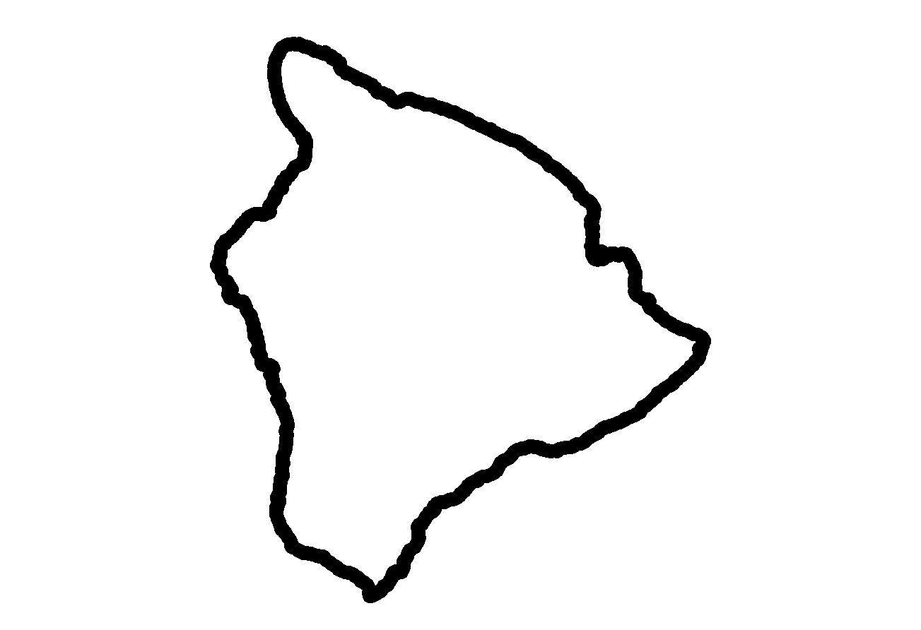 1303x892 Hawaiian Islands Clip Art Island Clipart Outline