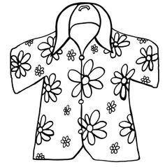 Hawaiian Shirt Drawing
