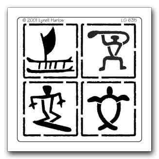 327x327 Lg Hawaiian Petroglyph Silhouettes Hawaiian Tattoo