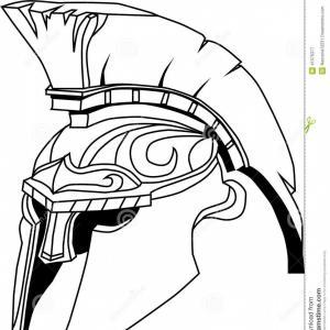 300x300 Spartan Greek Warrior With Helmet Vector Mascot Image Soidergi