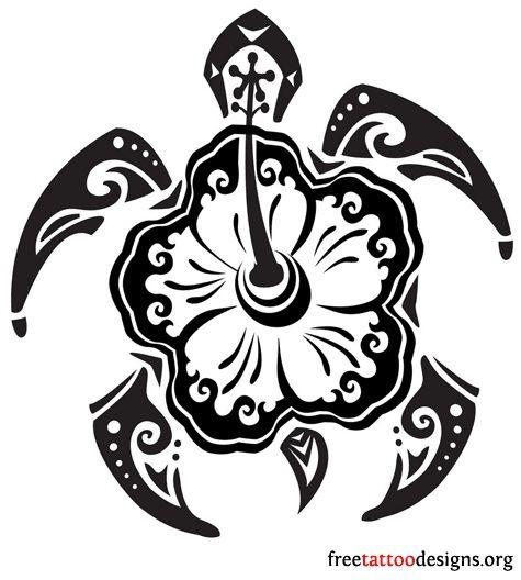 475x528 Hawaiian Honu Tattoo Designs