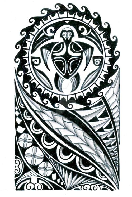 500x744 Coolest Polynesian Tattoo Designs