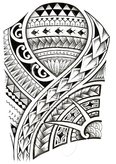 400x565 Coolest Polynesian Tattoo Designs