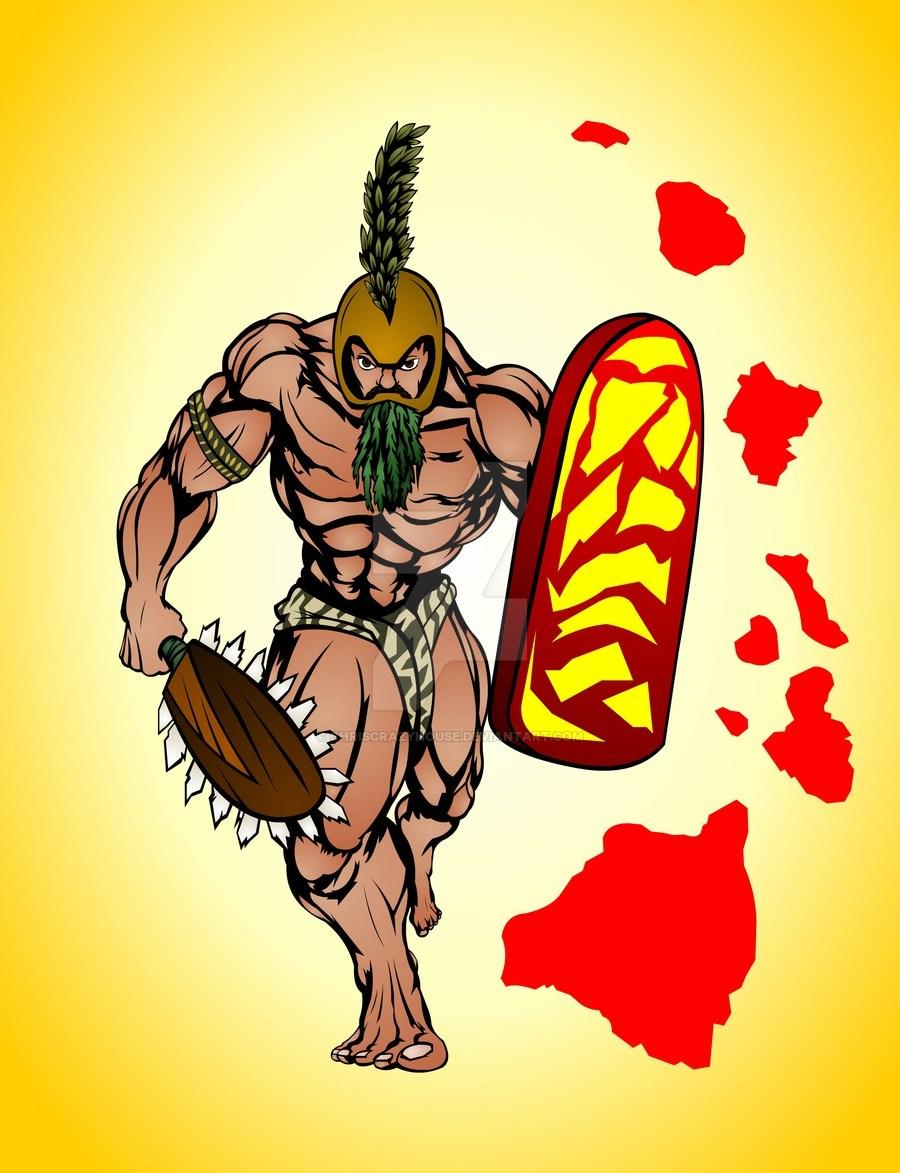 900x1173 Ancient Hawaiian Warrior Drawing