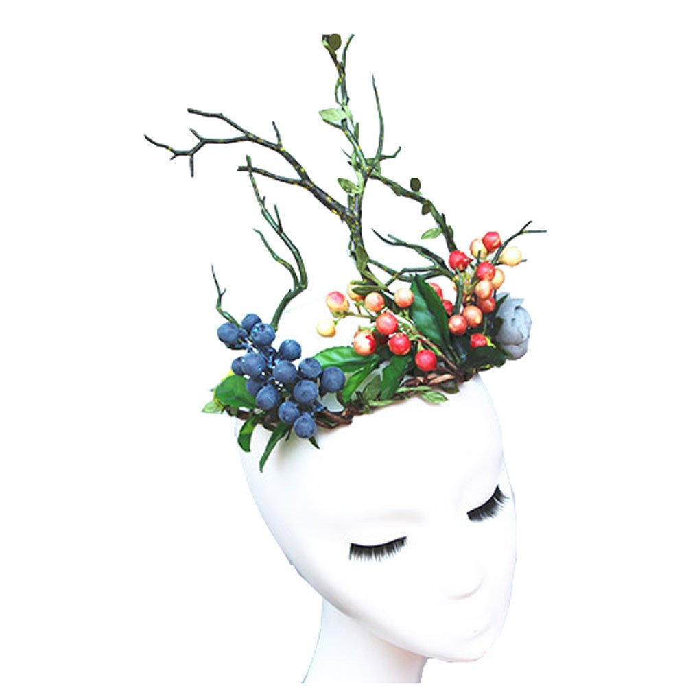 1000x1000 flower branch headband forest elf floral tree branch