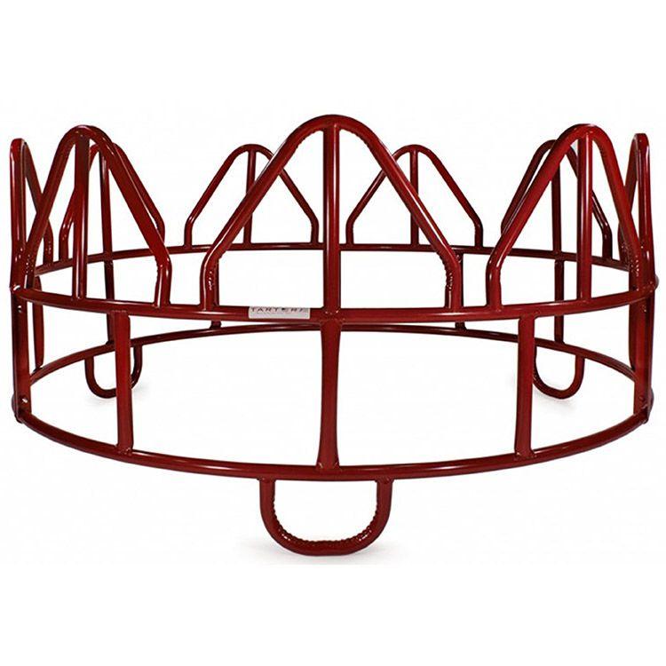 750x750 tarter piece horse round bale hay feeder wo hay saver red