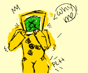 300x250 hazmat suit fart in his suit