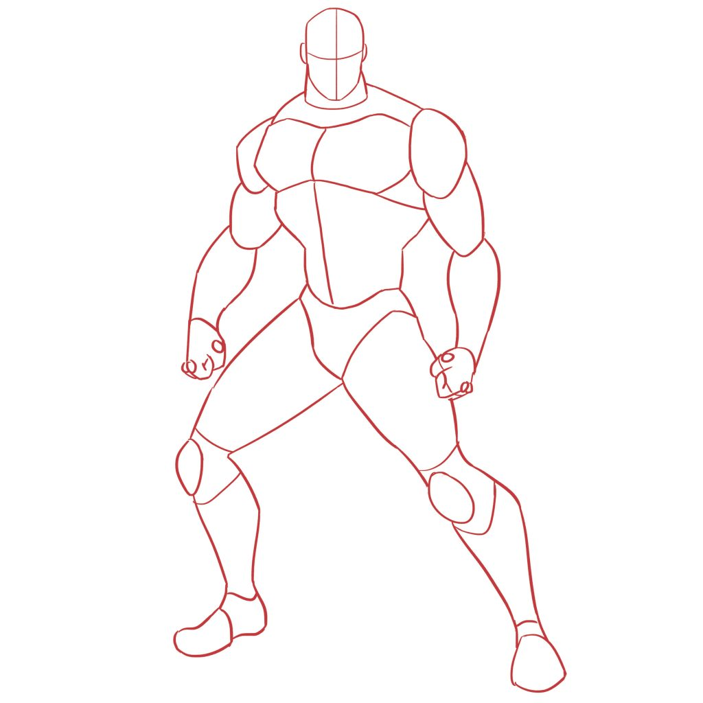 1024x1024 Learn To Draw Cyborg In Easy Steps