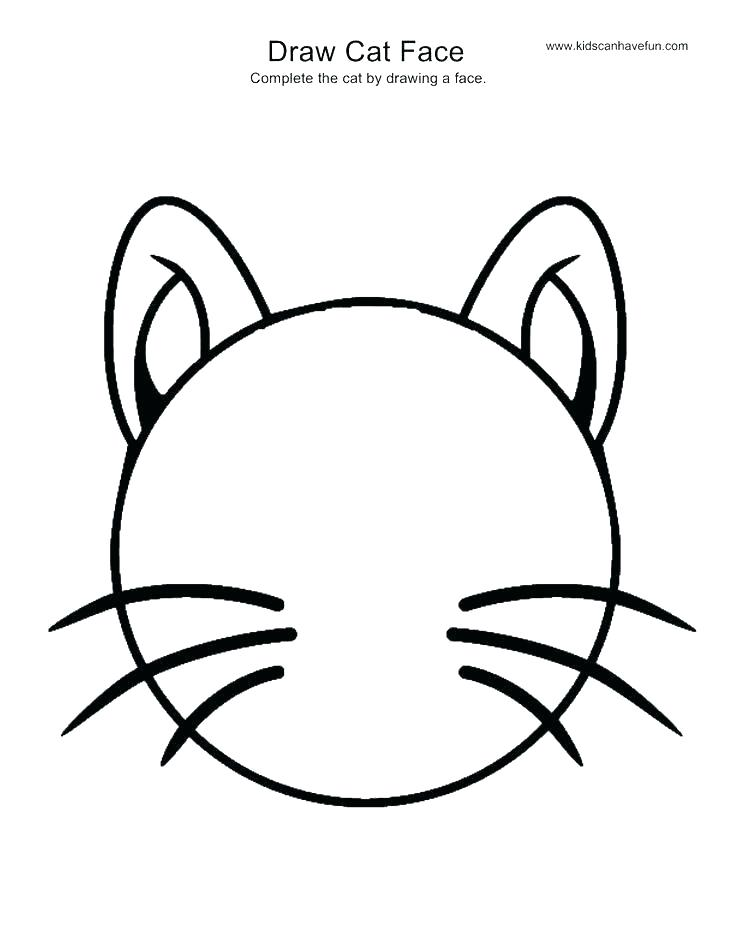 736x952 cat face drawing how to draw a cat head cat face drawing images