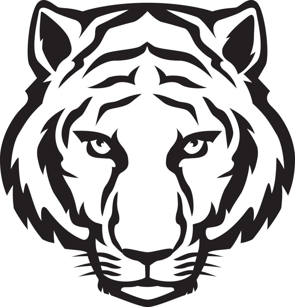 970x1009 Arts Cat Drawing Outline The Best Tiger Head Outline Tiger Eyes