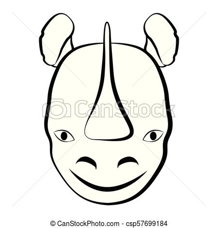 450x470 Huge Collection Of 'rhino Outline Drawing' Download More Than