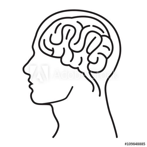 500x500 Men Brain Head Illustration Men Brain Head Outline Draw
