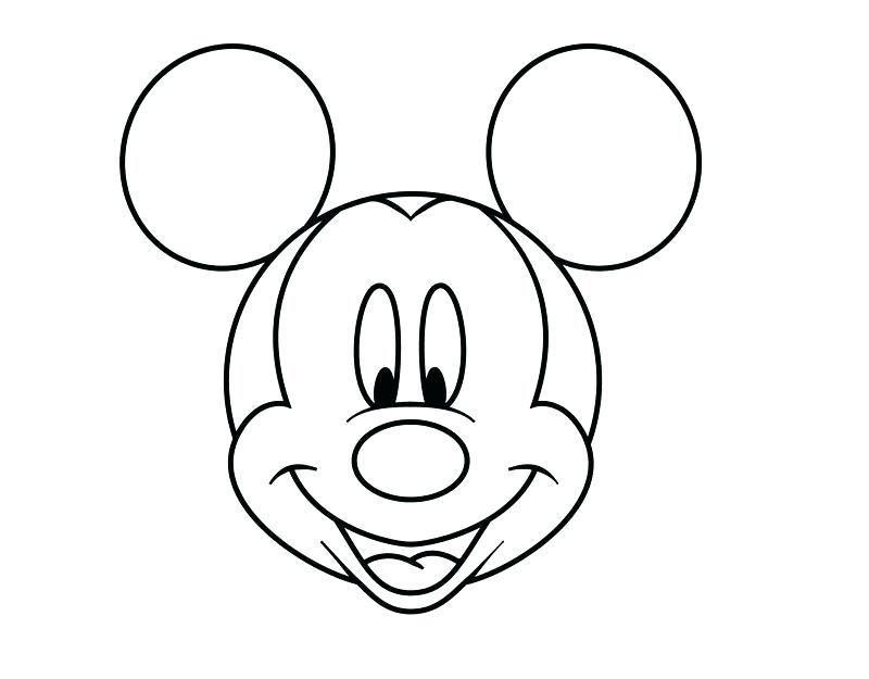 800x625 mickey head outline mickey mouse outline drawing mickey mouse