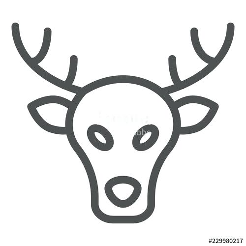 500x500 Moose Head Outline Moose Line Icon Deer Vector Illustration