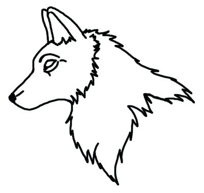 401x381 Wolf Face Outline Wolf Face Outline Drawing Images Pictures