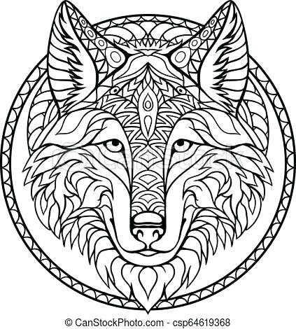 423x470 Wolf Outline Drawing Angry Wolf Face Outline Drawing