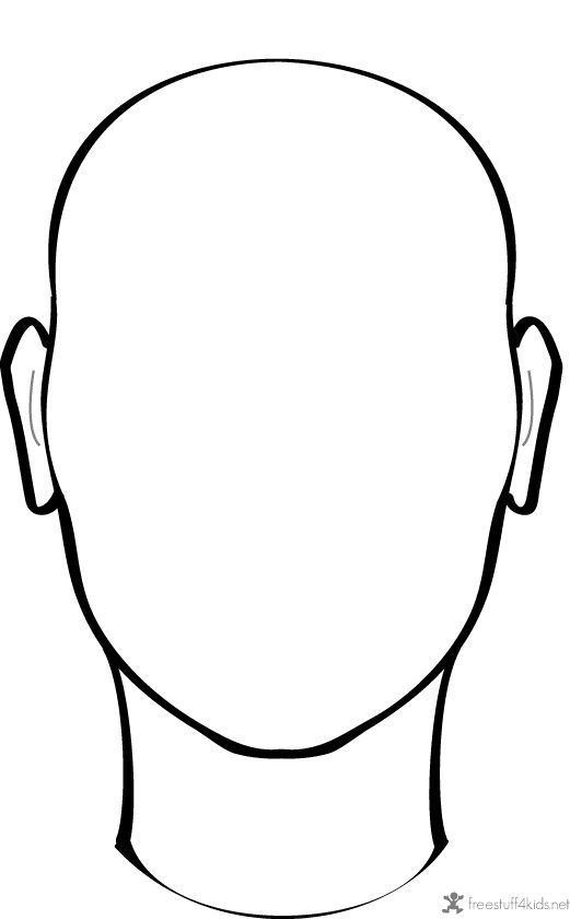 521x840 Blank Face To Draw On Projects To Try Face Template, Outline