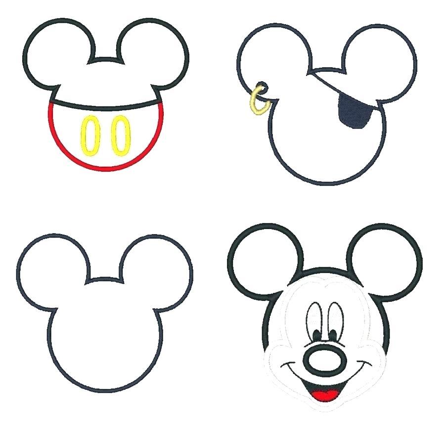 900x863 Mickey Head Outline