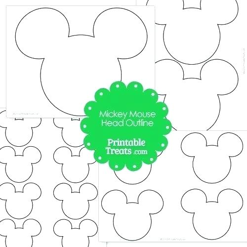 500x500 Mickey Mouse Outline Drawing
