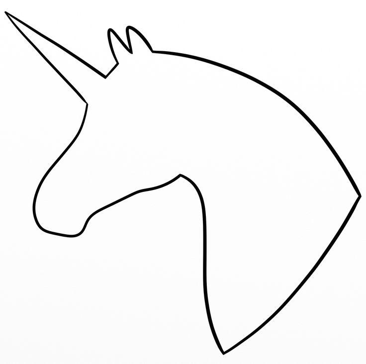 736x732 Unicorn Head Outline Unicorn Head Silhouette My Drawings