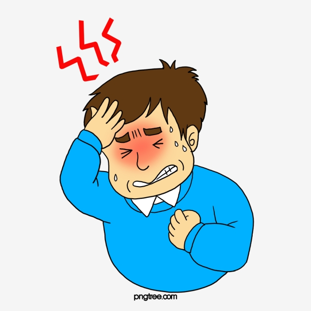 640x640 a man with a headache, man clipart, man, pain png image