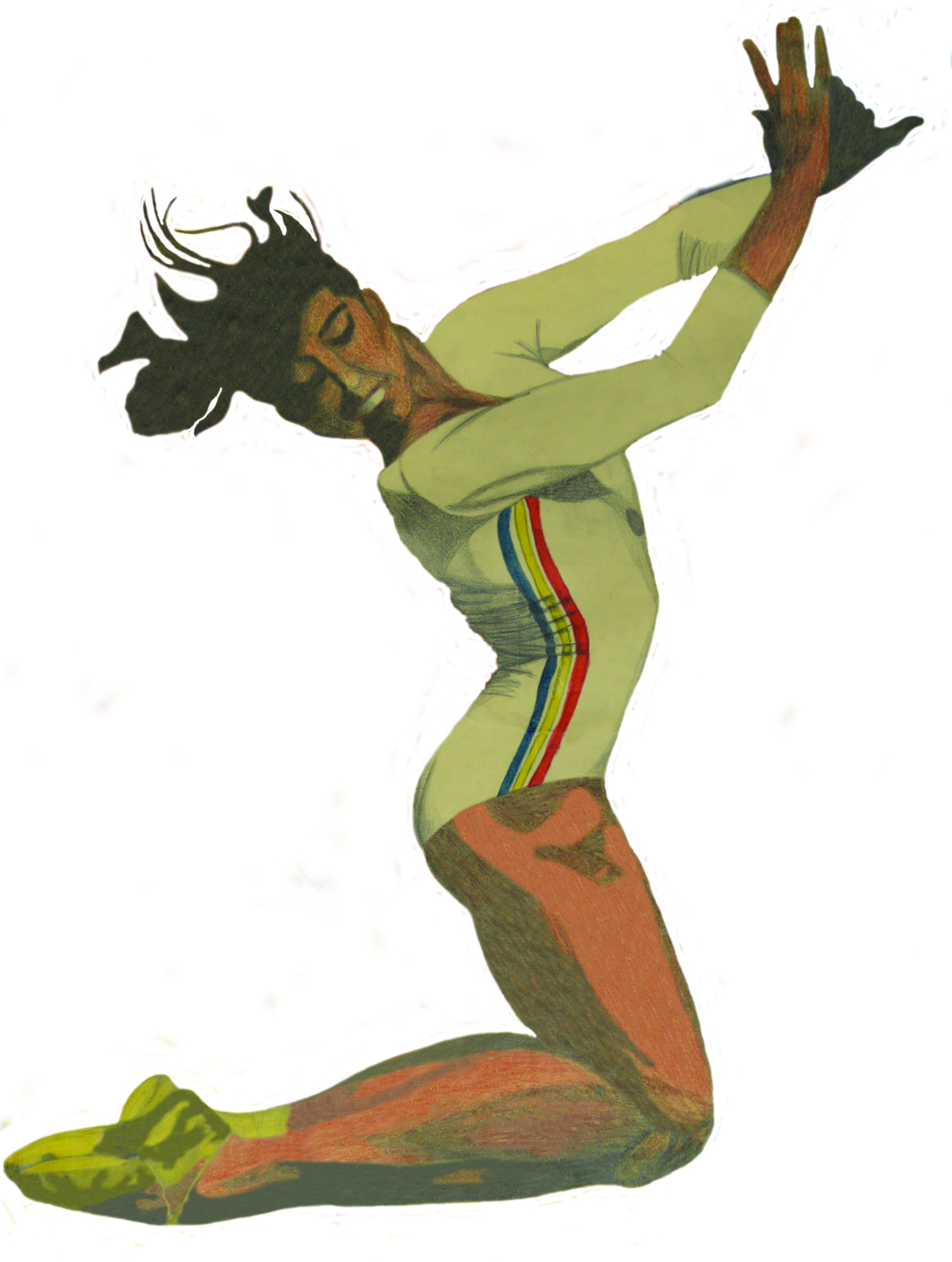3473x4602 Drawing Of Nadia Comaneci