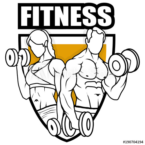 500x500 fitness center gym emblem fitness logo health center logo