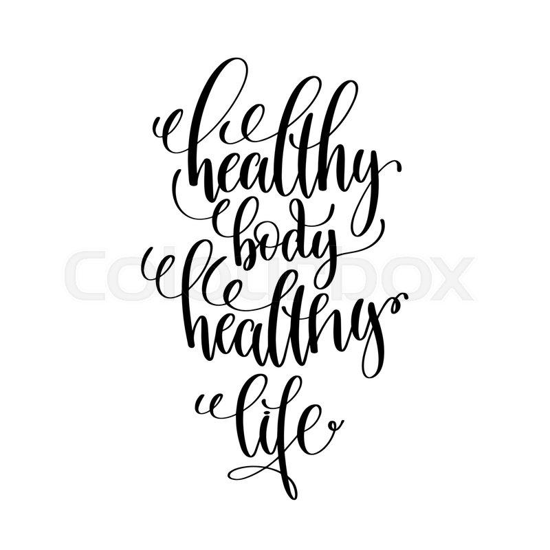800x800 healthy body healthy life black and stock vector colourbox