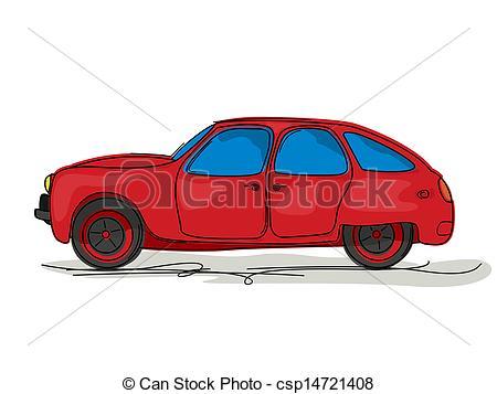 450x357 sport car cartoon cartoon style drawing of a red sport car