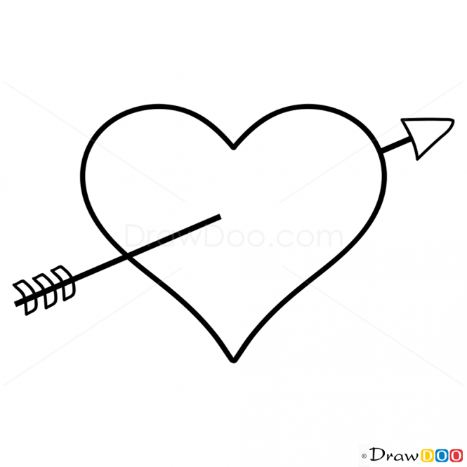 Heart And Arrow Drawing