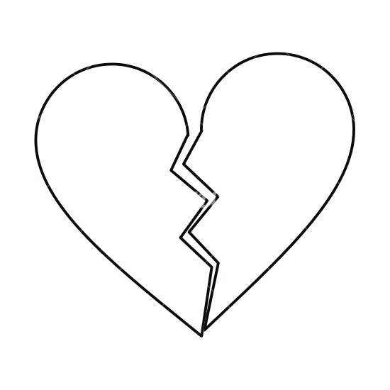550x550 Collection Of Free Heart Clip Line Drawing Download On Ui Ex